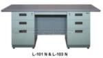 Meja Kantor Besi +Laci Lion L-101 N & L-103 N