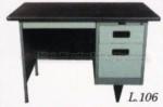 Meja Kantor Besi + Laci Lion L-106