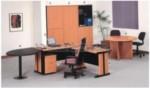 Meja Kantor UNO Warna Cherry – 4