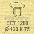 Meja Kantor Modera ECT-1200