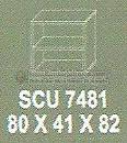 Meja Kantor Modera SCU-7481