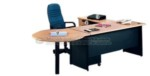 Meja Kantor UNO Classic Series warna Beech – 1
