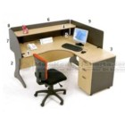 Meja Resepsionis HighPoint Oxford Workstation 2