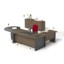 Set Meja HighPoint Dark Cherry Workstation 2