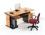 Set Meja Kantor Cherry HighPoint Workstation 1
