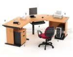 Set Meja Kantor Cherry HighPoint Workstation 2