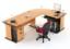 Set Meja Kantor Cherry HighPoint Workstation 3