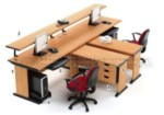 Set Meja Kantor Cherry HighPoint Workstation 4