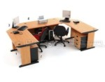 Set Meja Kantor Cherry HighPoint Workstation 5
