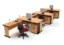 Set Meja Kantor Cherry HighPoint Workstation 6