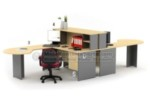 Set Meja Kantor HighPoint Workstation 3