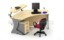 Set Meja Kantor HighPoint Oxford Workstation 2