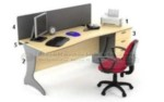 Set Meja Kantor HighPoint Oxford Workstation 3