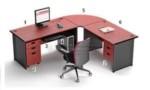 Set Maja Kantor Mahogani HighPoint Workstation 1
