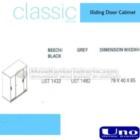 Sliding Door Cabinet UNO UST-1432, UST-1482