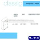 Sliding Door Cabinet UNO UST-1532, UST-1582